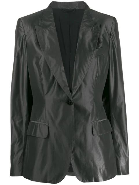 Burberry 2010's Lightweight Notched Blazer In Grey