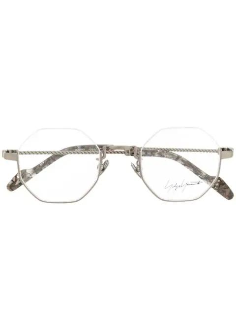Yohji Yamamoto Achteckige Sonnenbrille - Silber In Silver