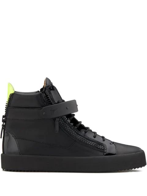 Giuseppe Zanotti Addy High Top Sneakers In Black