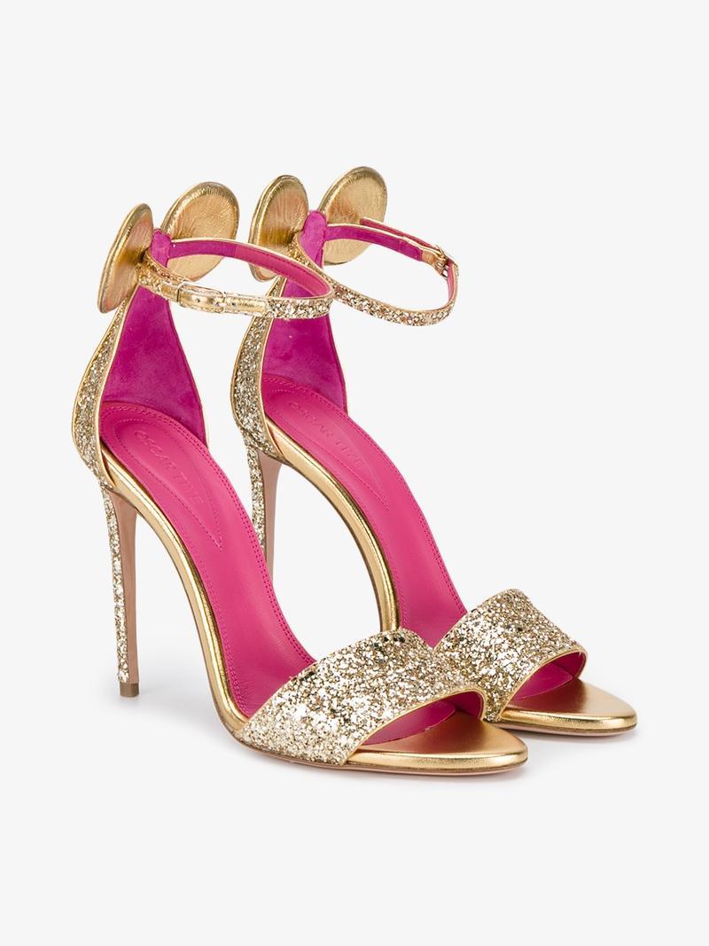 1655a4b1c4fe Oscar Tiye Glitter Minnie Sandals