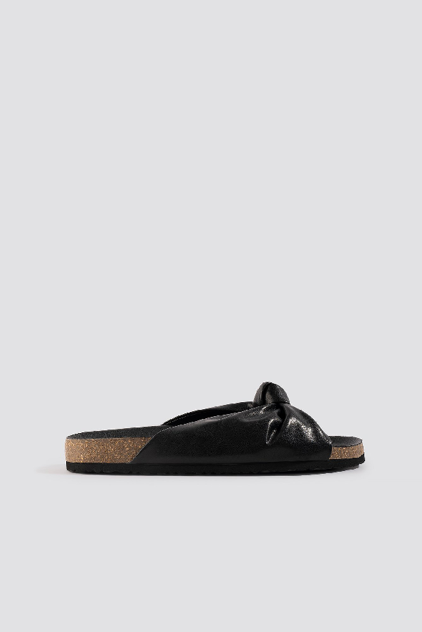 Na-kd Knotted Slippers - Black