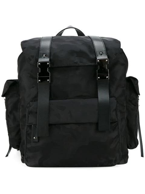 442e0d238a Valentino Nylon Noir Camouflage Backpack In Black | ModeSens