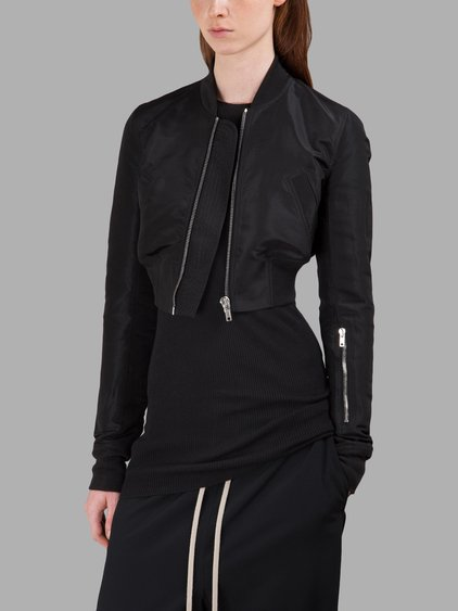 740f76e4e59 Rick Owens Glitter Flight Cropped Jacket In Black | ModeSens