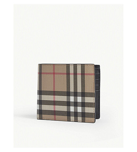Burberry Vintage Check Leather Wallet In Archive Beige