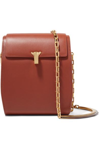The Volon Po Box Leather Box Bag - Brown In Tan