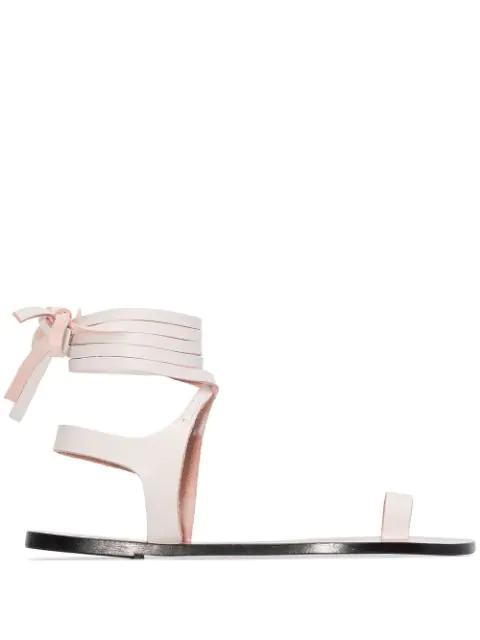 Atp Atelier Candela Flat Sandals In White