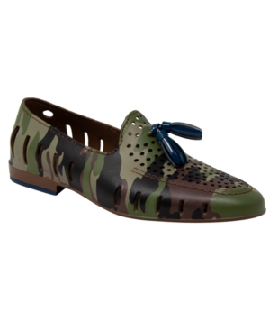 Floafers Men's Slip On Loafers - Executive Tassel Men's Shoes In Green Camo