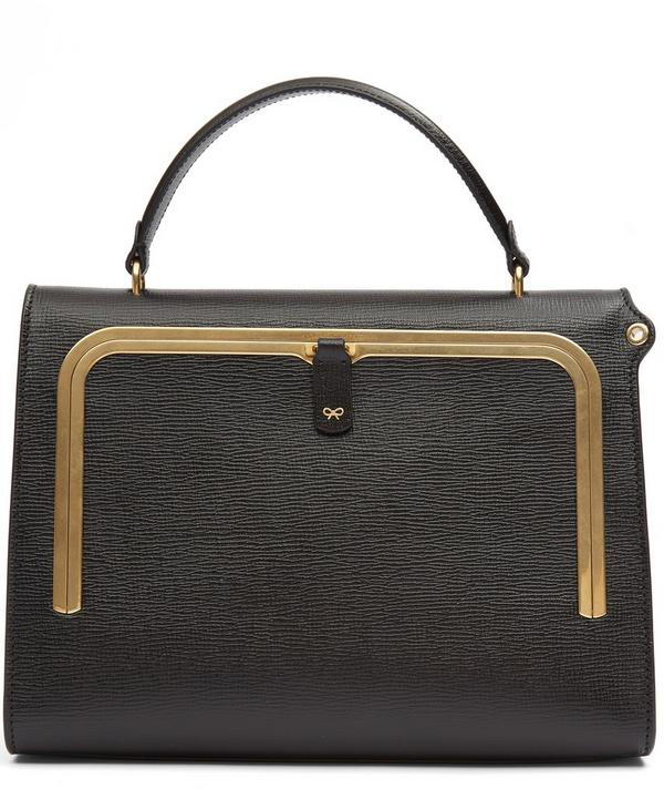 Anya Hindmarch Grained Leather Postbox Bag In Black