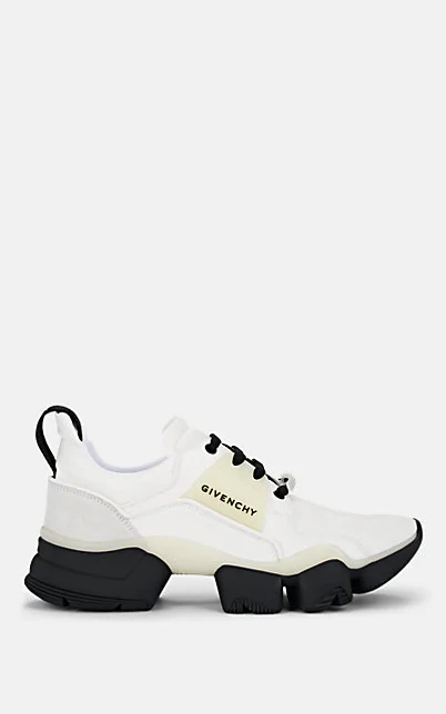 Givenchy Jaw Leather & Suede Sneakers In White