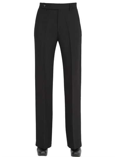 Rick Owens High Waisted Heavy Viscose Cady Pants In Black