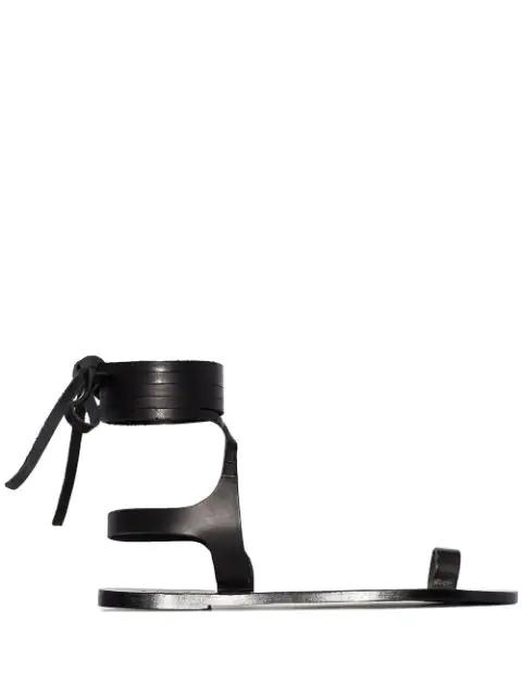 Atp Atelier Candela Flat Sandals In Black