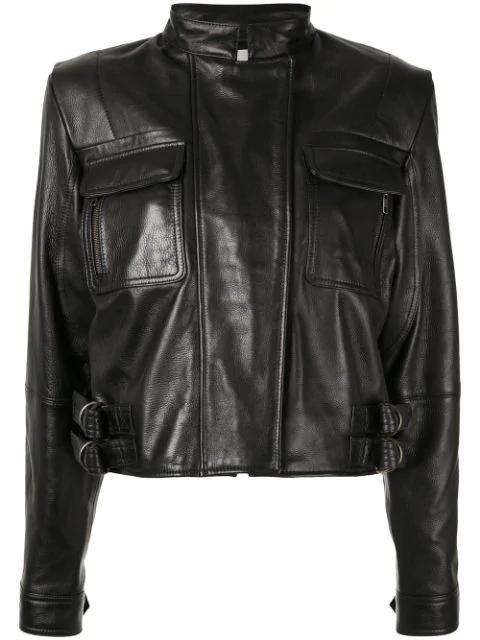 Aje Leather Jacket - Black