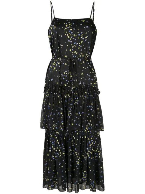 Aje Floral Day Dress - Black