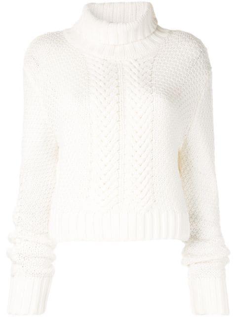 Aje Gestricktes Sweatshirt - Weiß In White