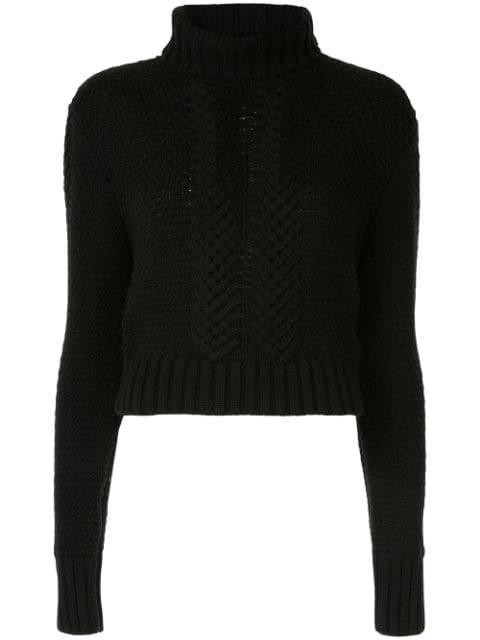 Aje Knitted Sweatshirt - Black