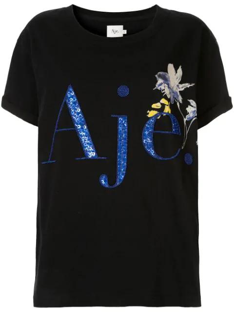 Aje T-Shirt Mit Print - Schwarz In Black