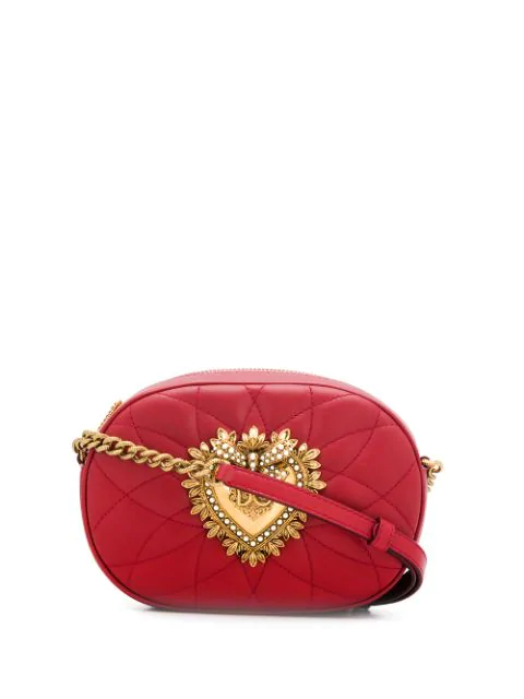 Dolce & Gabbana Devotion Crossbody Bag In Red
