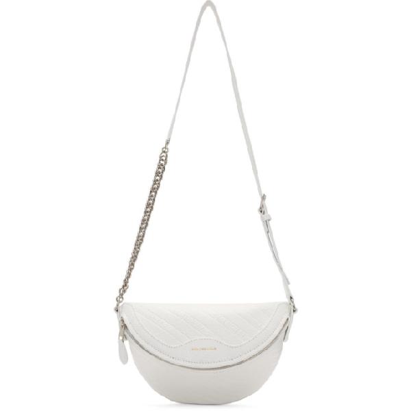Balenciaga White Xxs Souvenirs Belt Bag In 9002 Wht