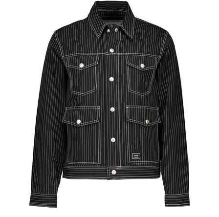 Ami Alexandre Mattiussi Pinstripe Jacket In Black