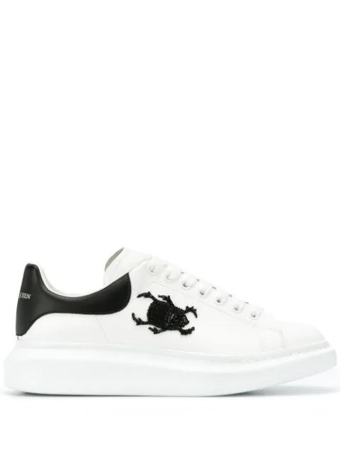 Alexander Mcqueen Oversized-Sneakers Mit KÄFer In White