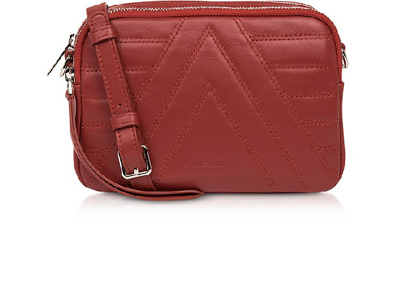 Lancaster Red Parisienne Quilted Leather Crossbody Bag