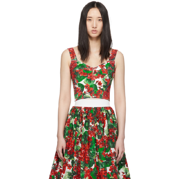 Dolce & Gabbana Dolce And Gabbana Red Geranium Soft Cup Bustier In Hav03 Red