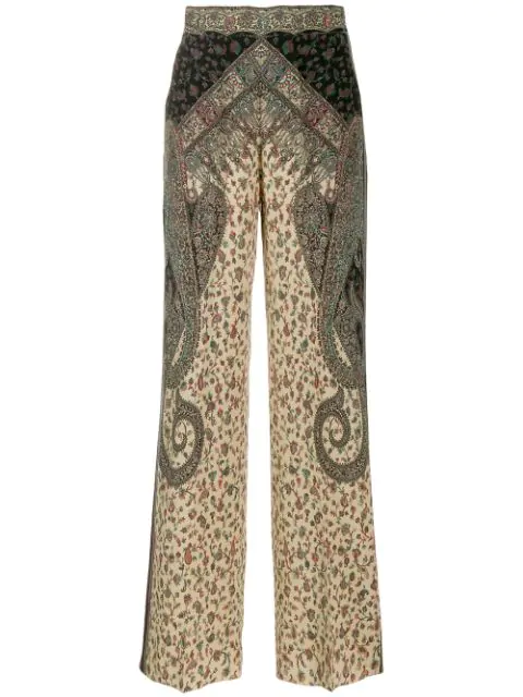 Etro Paisley Print Trousers In 800