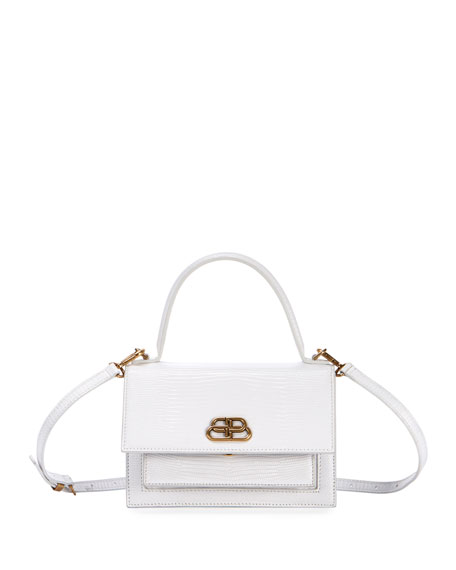 Balenciaga Sharp Extra Small Leather Satchel - White