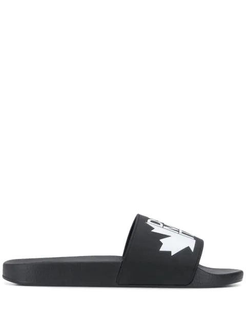 Dsquared2 Men's Slippers Sandals Rubber  Dune In Black