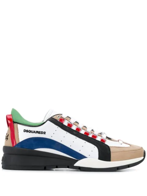 Dsquared2 Men's Shoes Leather Trainers Sneakers 551 In White