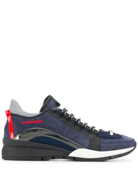Dsquared2 Men's Shoes Leather Trainers Sneakers 551 In Blue