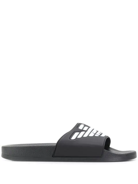Emporio Armani Men's Slippers Sandals Rubber In Black