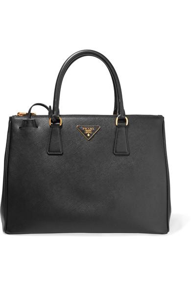 89df9ac18b204c Prada Galleria Saffiano Small Leather Shoulder Bag In Black