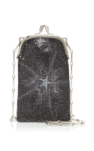 Paco Rabanne Pixel 69 Mini Printed Chainmail Bag In Black