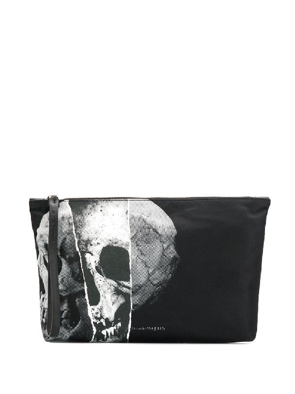 Alexander Mcqueen Clutch Bag With Skull In Black