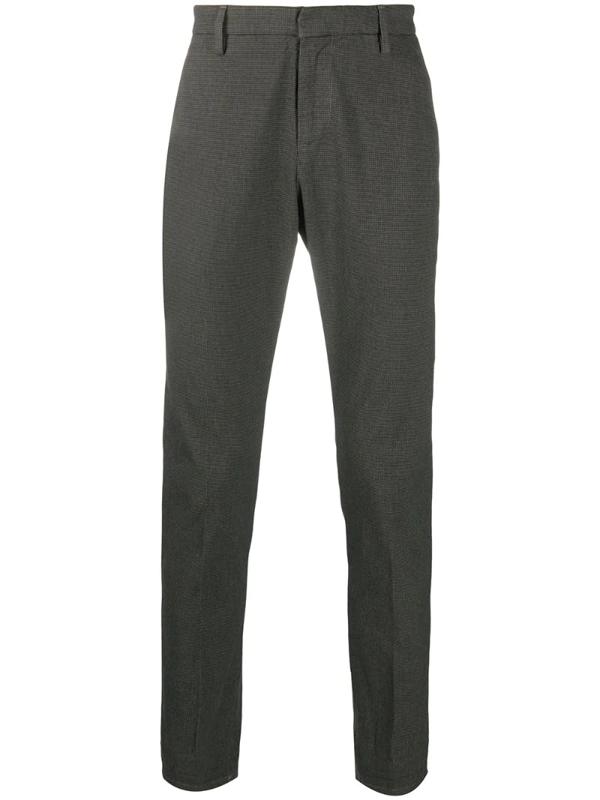 Dondup Gaubert Slim Wool Trousers In Grey