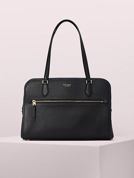 Kate Spade Large Polly Leather Tote - Black