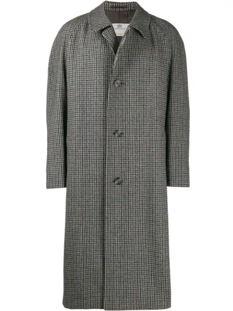 Pre-owned A.n.g.e.l.o. Vintage Cult 1990's Tweed Overcoat In Neutrals