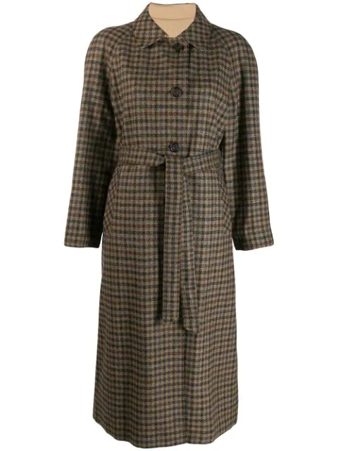 Aquascutum Vintage 1990's Reversible Coat - Brown