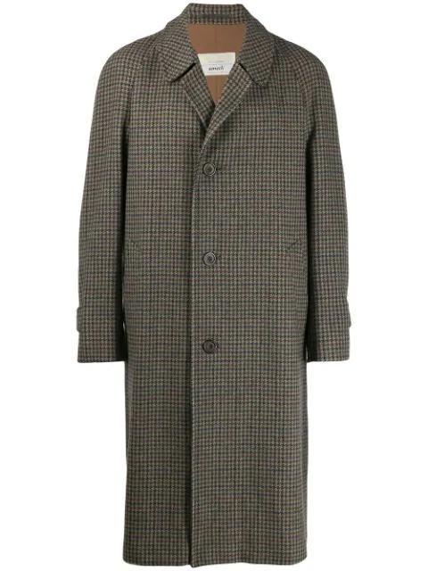Aquascutum Vintage 1990's Tweed Overcoat - Brown