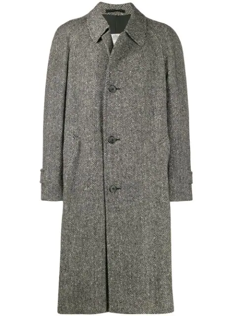 Pre-owned A.n.g.e.l.o. Vintage Cult 1990's Tweed Overcoat In Grey