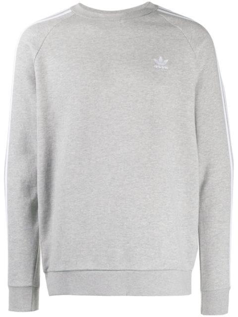 Monarquía sagrado Borradura  Adidas Originals 3-stripe Sweater In Grey | ModeSens