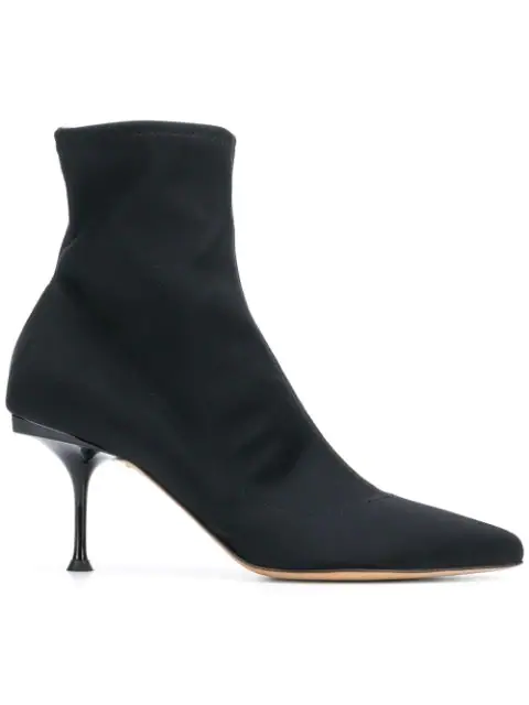 Sergio Rossi Selva Stretch Ankle Boots In Black
