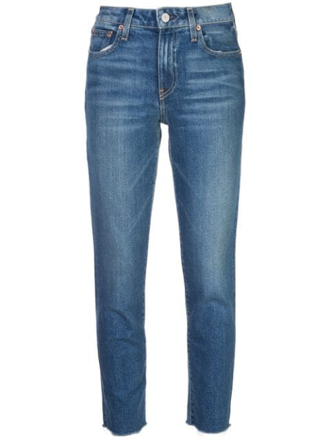 Trave Denim Mid Rise Slim Fit Jeans In Blue