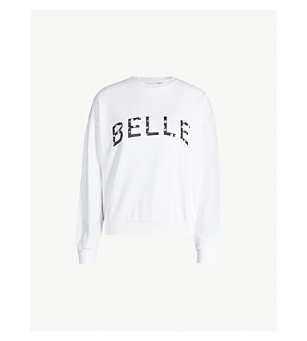 Ted Baker Binanya Cotton-Jersey Sweatshirt In White