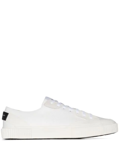 Givenchy Logo-Print Rubber And Suede-Trimmed Leather Sneakers In White