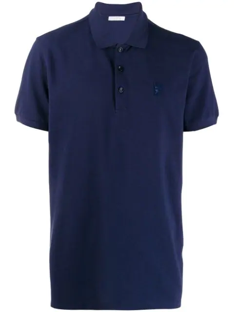Versace Polo Shirt In Blue