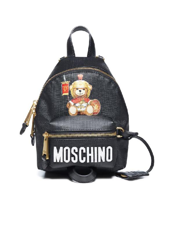 Moschino Backpack In Nero