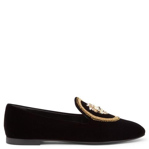 Giuseppe Zanotti Embroidered Slippers In Black