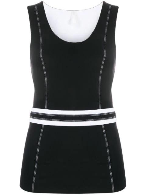 No Ka'oi Stitching Detail Sport T-shirt In Black